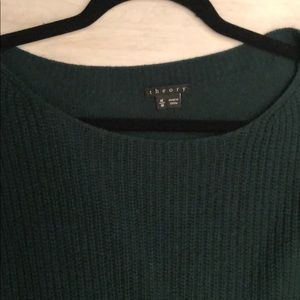 Theory Sweaters - Theory Emerald Long Sleeve Wool Sweater